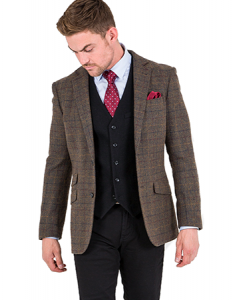 tweed check blazer
