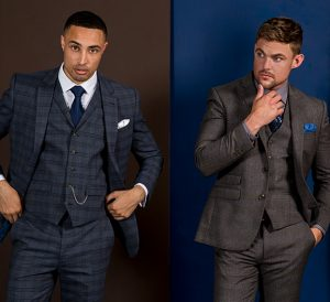 checked suits