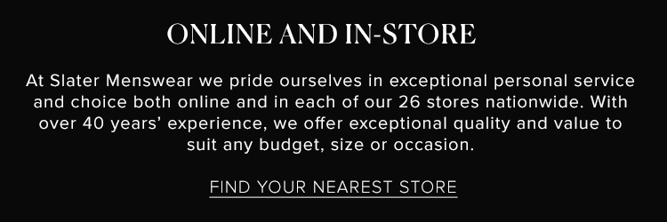 Shop Online Or In-Store With Slater Menswear