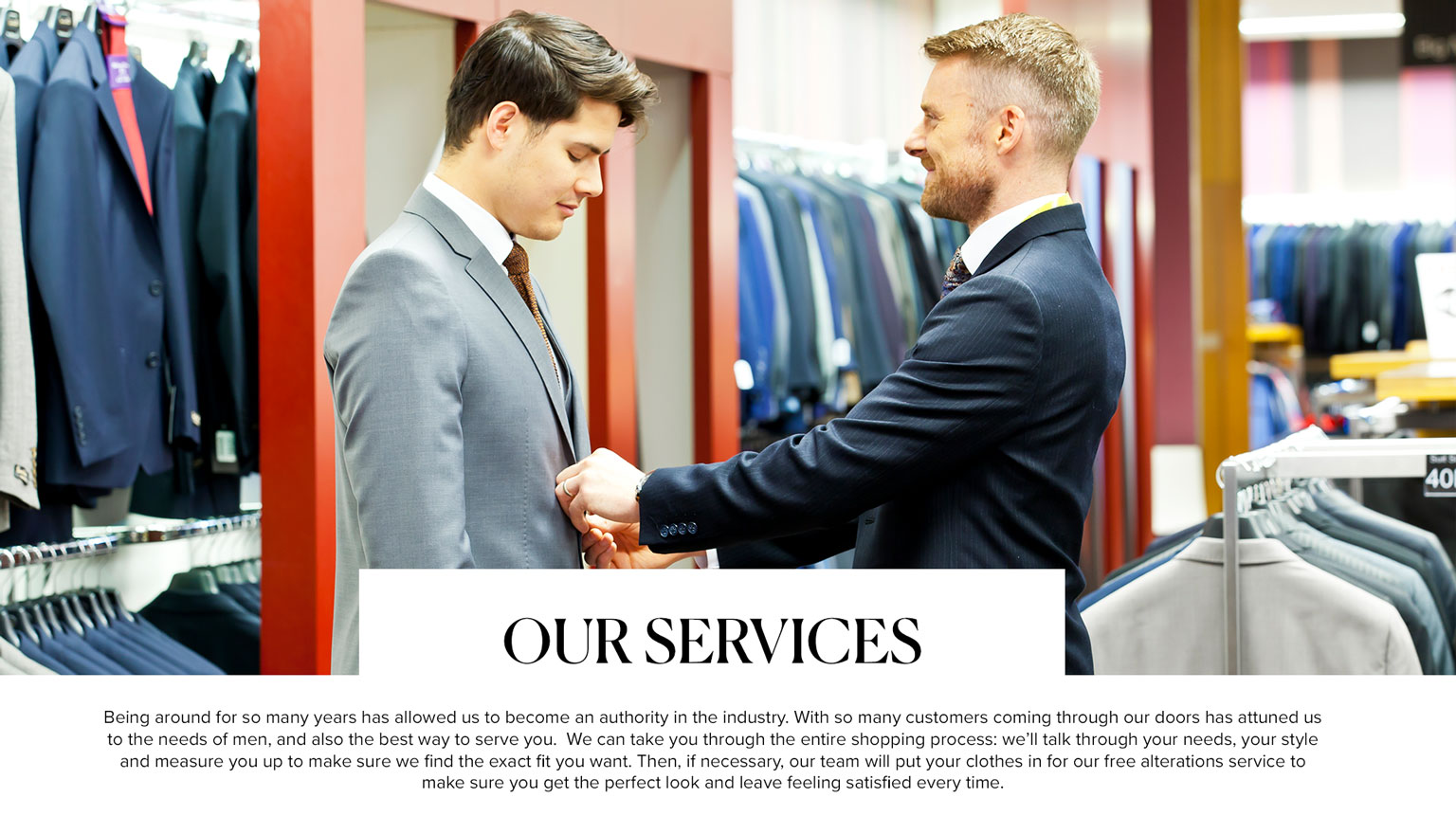 Slater Menswear Services